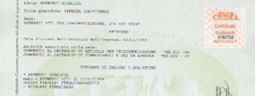 Certificati di iscrizione al registro imprese rea for Numero deputati alla camera